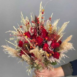 دسته گل عروس کد 10111