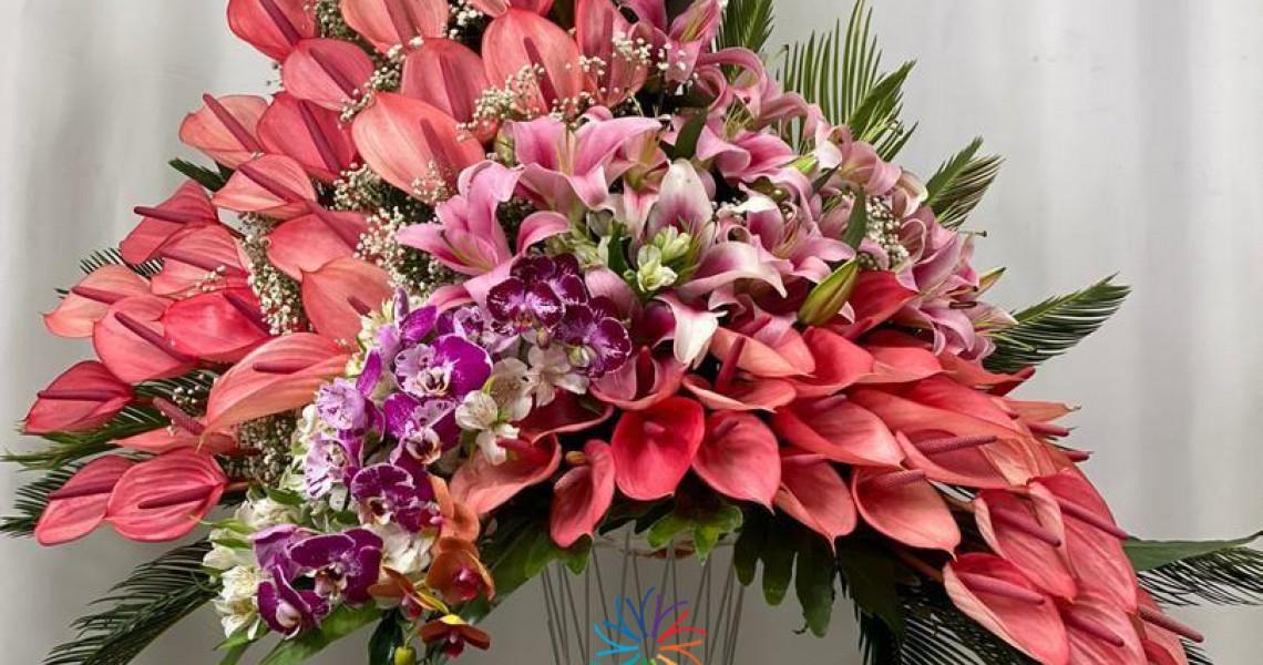 Birthday flower glass vase