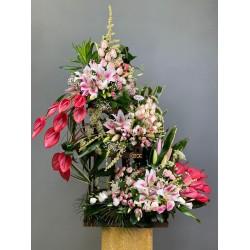 سبد گل سه طبقه کد 10222