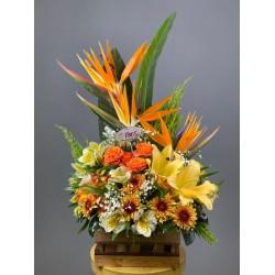 باکس گل  استرلزیا و لیلیوم کد 10228